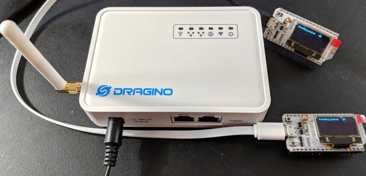 The LoRaWAN dragon comes to roost at my house