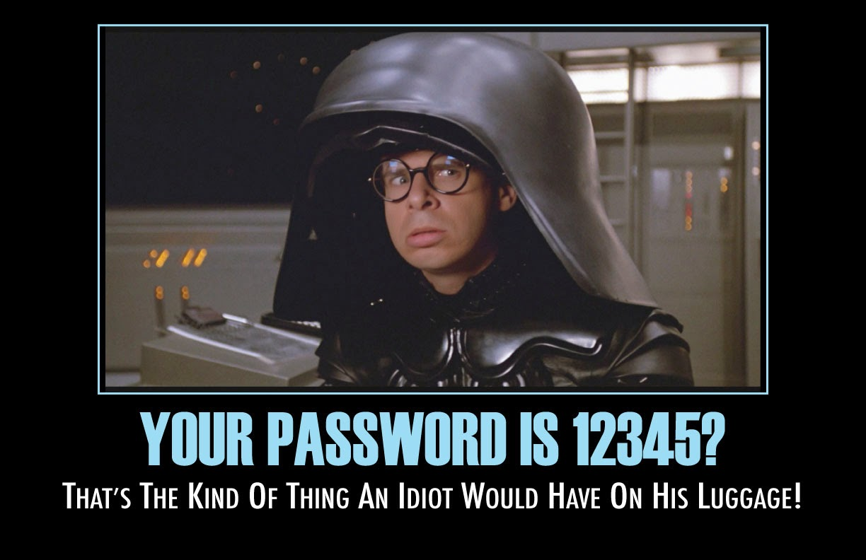 That's the kind of password an idiot uses on his luggage: cloud security