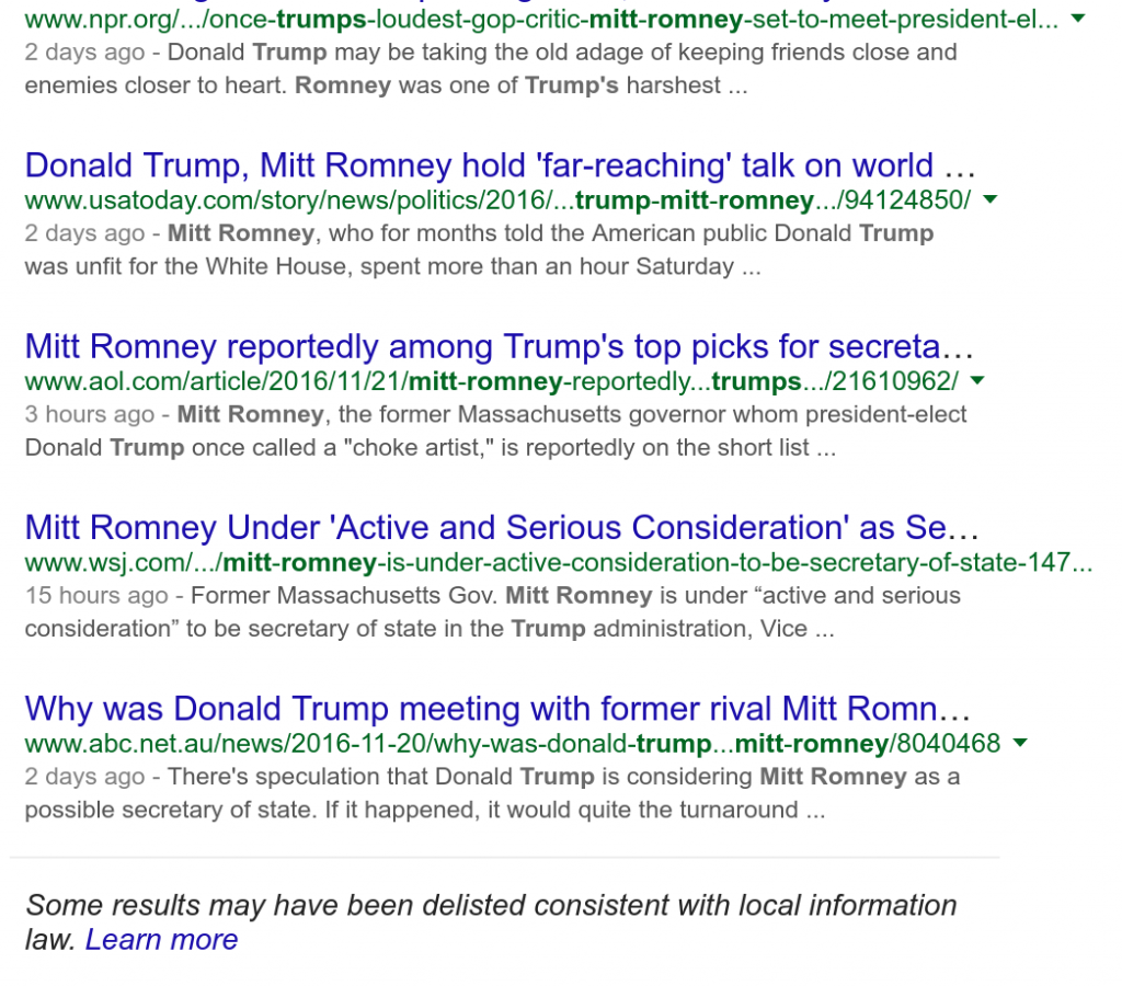 Tales from the road: of Russia, Google, Trump, search results, and opening a new front