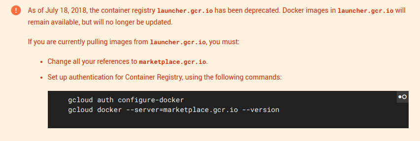 PSA: launcher.gcr.io is not being maintained