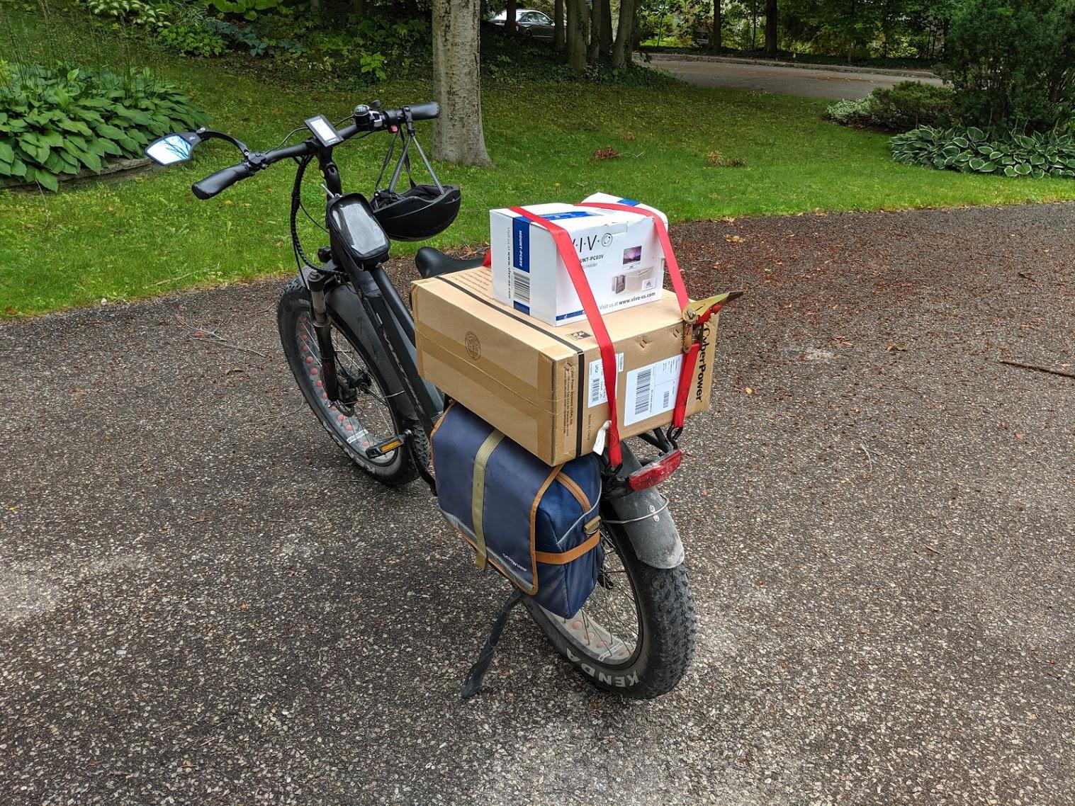e-bikes and UPS: no, not really