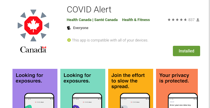Canada Covid tracing app: get yours today!